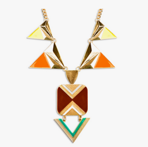 aztec geo necklace