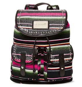 black striped backpack