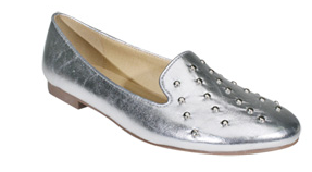 silver studded flats