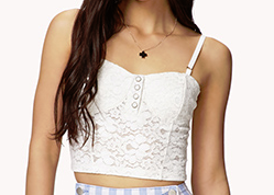 white lace bustier