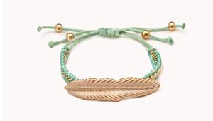feather bracelet