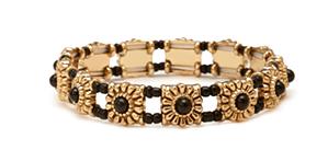 beaded stretch bracelet f21