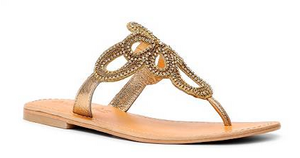coconuts gold sandal