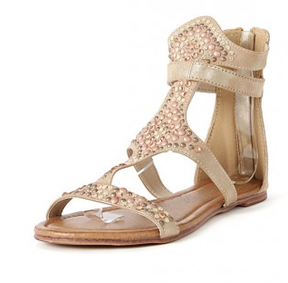 embellished gold sandals make me chic