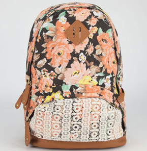 floral and crochet backpack