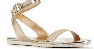 gold sandals just fab