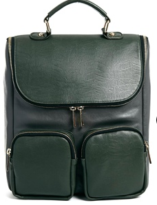 green structured bag