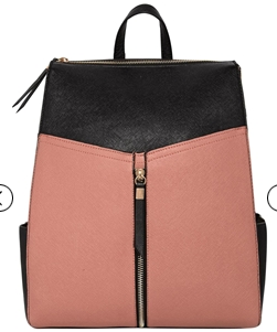 pink structured bag
