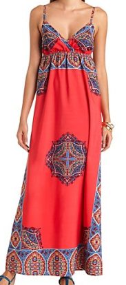 scarf maxi dress charlotte russe