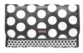 spotted makeup bag