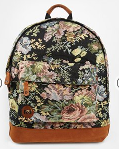 tapestry floral backpack