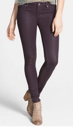 eggplant skinny jeans