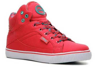 coral high tops