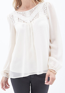 cream blouse f21