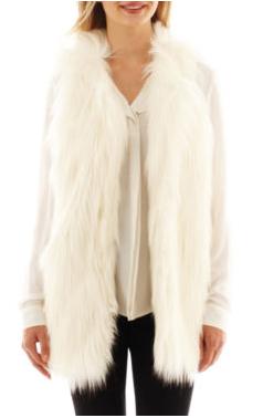 faux fur vest 2 jcp