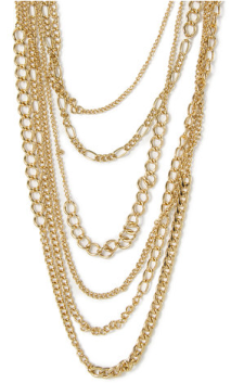 gold mutlistrand necklace claire's
