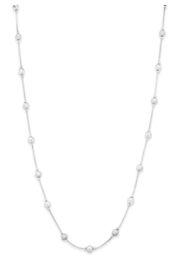 long silver necklace Macy's