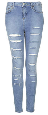 moto ripped skinny jeans