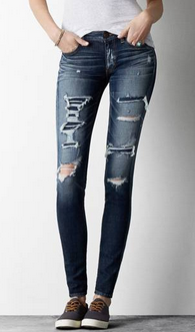 patchwork jeans ae