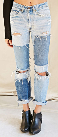 patchwork jeans urban outfitters