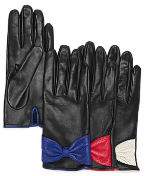 perforated bow gloves