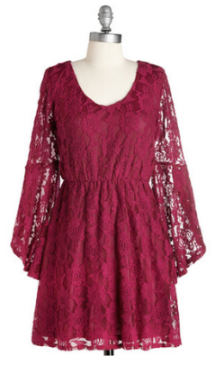sangria lace dress
