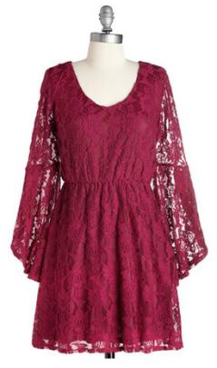 sangria lace dress