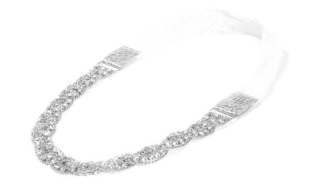 silver glitz headband
