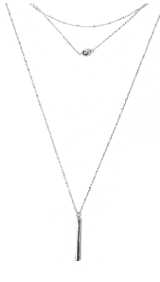 silver multistrand necklace go jane