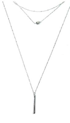 silver multistrand necklace go jane