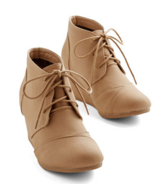 tan booties modcloth