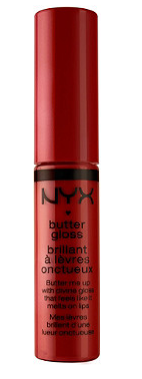 nyx butter gloss in red velvet