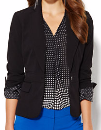 7th avenue black blazer New York and Company