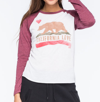 california love long sleeve raglan tee tillys