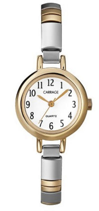 gold and silver watch target