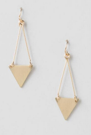 merritt triangle drop earrings Francescas