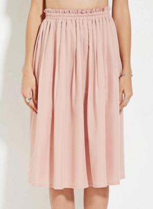 pink midi skirt f21