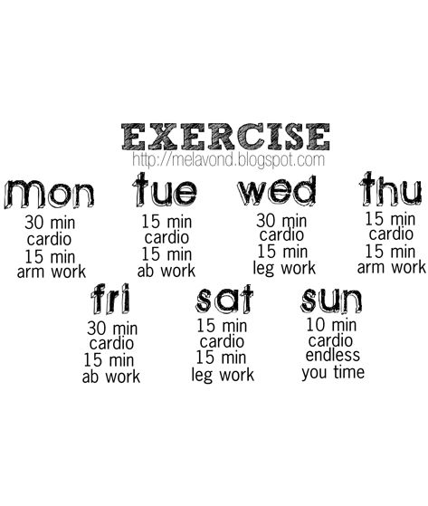 exercise-circuit-schedule